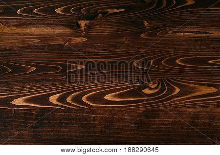 Warm brown vintage wood texture. Top view wooden board.