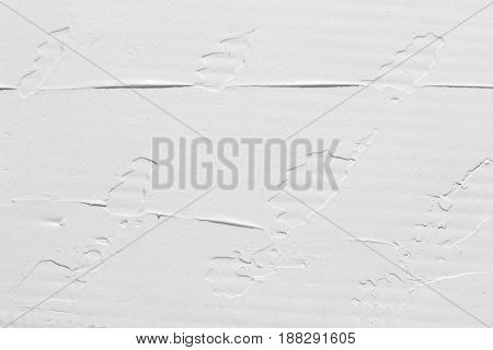 Creative abstract white background, plaster texture design, creamy structure. Backdrop with free space for text.