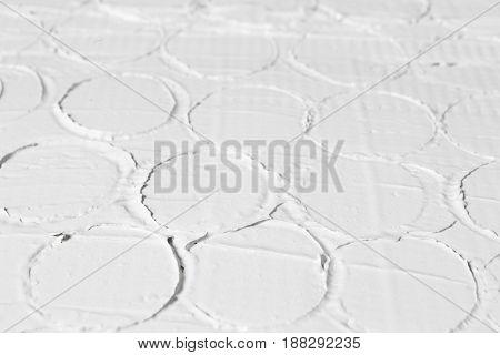 Relief White Closeup Pattern Texture Stucco Plaster Decorative Structure Free Space Building Concept