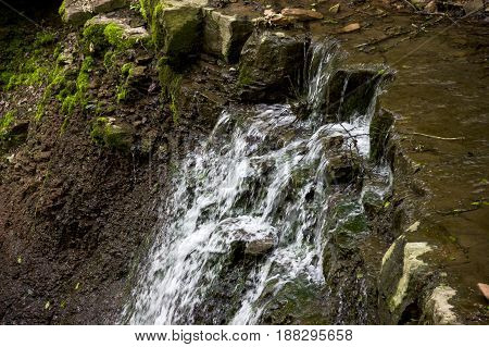 one of Rusyliv Falls is located on the Rusyliv river (right tributary of the Strypa River) Ternopil region of western Ukraine
