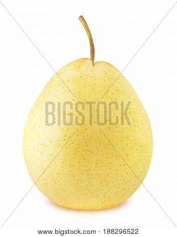 Ripe chinese pear isolated on a white