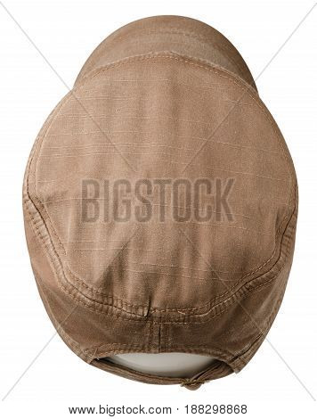 Sports Cap Isolated On A White Background . Brown Cap