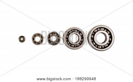 Group bearings and rollers components for the engine and chassis suspension