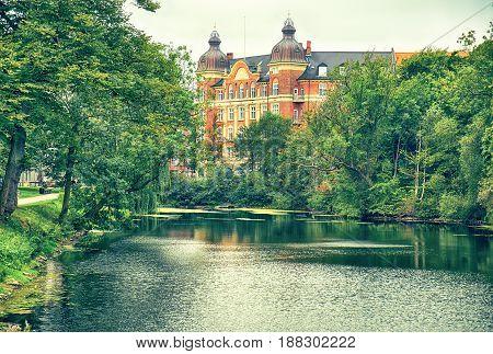 The Corner Of Gronningen And Esplanaden Viewed From Kastellet In Copenhagen.