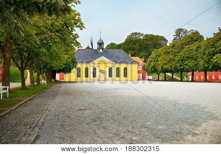 The Church And Adjacent Prison In Kastellet, Copenhagen.