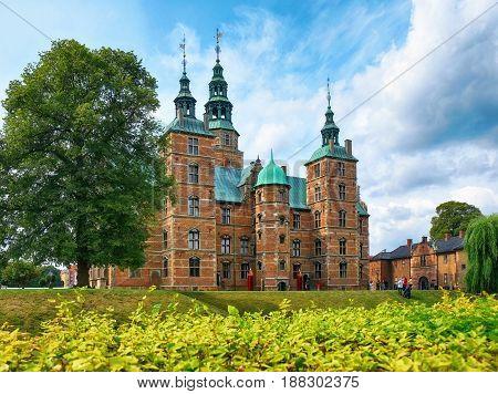 Rosenborg Castle In Copenhagen.