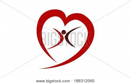 This image describe about Heart Care Template