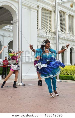 Indian Dancer Performs At The Istana, Singapore