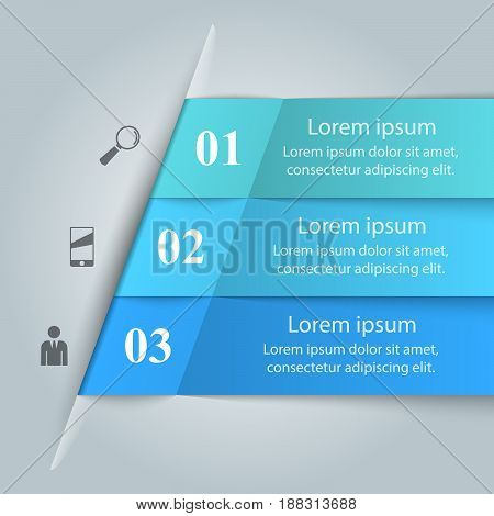 Business Infographics origami style Vector illustration. Marketing info