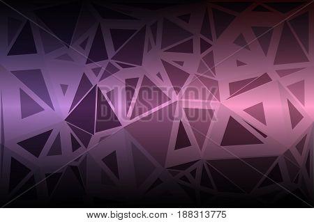 Purple Blue Pink Random Sizes Low Poly Background