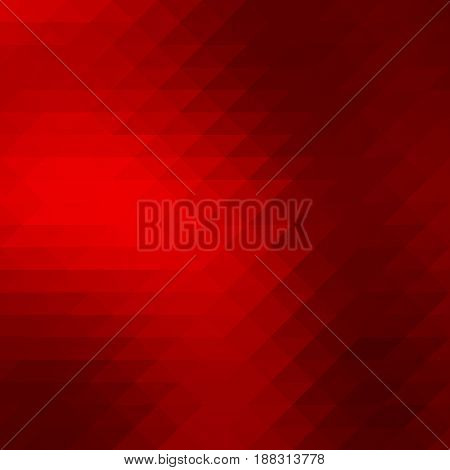 Deep Burgundy Red Rows Of Triangles Background, Square
