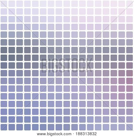 Pink Grey Rounded Mosaic Background Over White Square