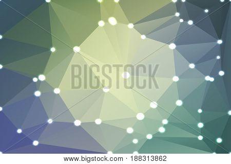 Yellow Purple Grey Geometric Background With Lights