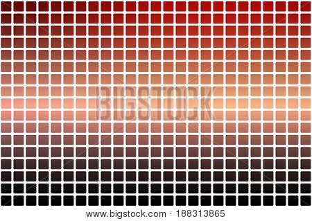 Red Orange Purple Abstract Rounded Mosaic Background Over White