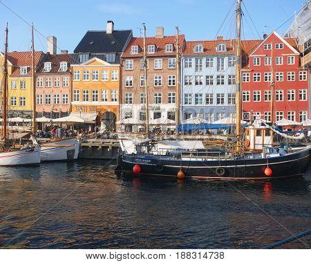 The Historical Ships In Nyhavn, Copenhagen.