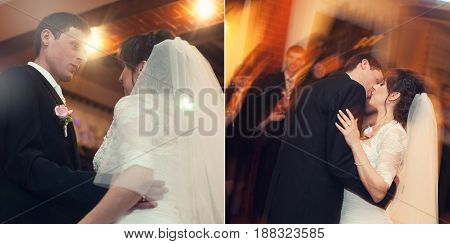 Two In One Blurred Picture Of Newlyweds' First Dance