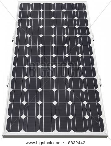 Solar photovoltaic cell isolated with clipping path