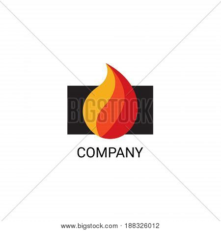 Vector eps logo design for fireplace services or store company