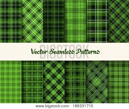Patrick day patterns in green colors.   Vector  illustration .