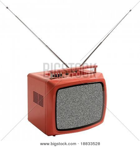 isolated vintage TV set