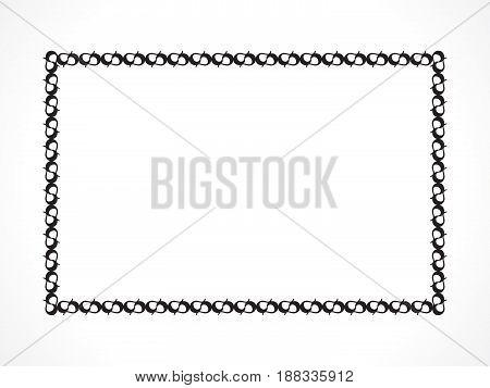 abstract artistic black creative border vector illustration