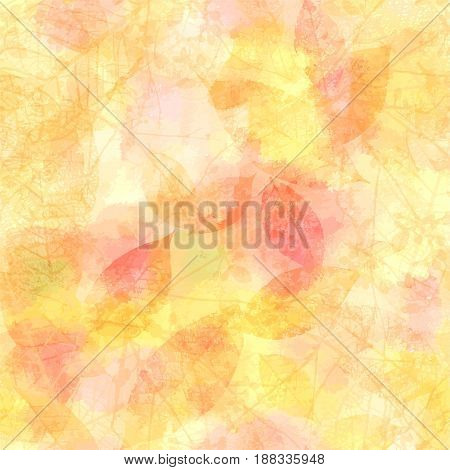 Vector autumn banner design, with a frame made up of skeleton leaves and tree branches, with copyspace, on a golden background texture