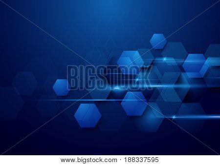 Blue abstract technology digital hi tech concept background