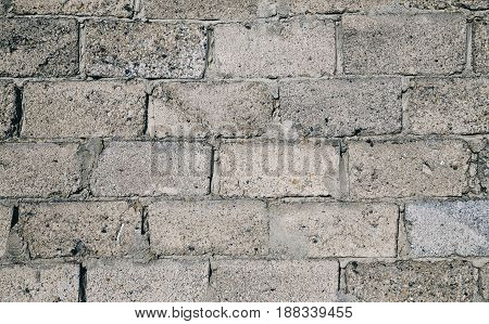 Wall From Old Gray Brick