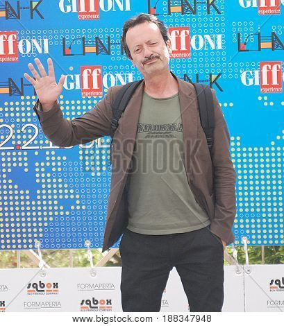 Giffoni Valle Piana Sa Italy - July 20 2011 : Rocco Papaleo at Giffoni Film Festival 2011 - on July 20 2011 in Giffoni Valle Piana Italy