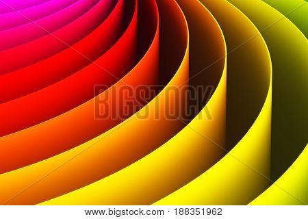 Creative abstract color shape 3D render illustration wallpaper background