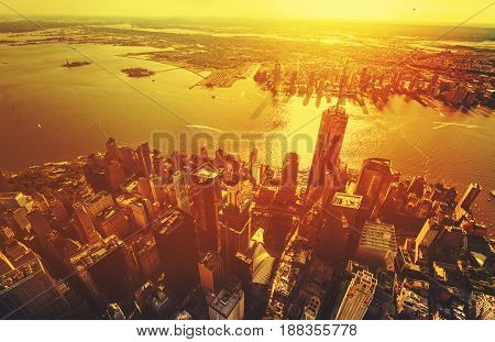 Aerial View Of The Freedom Tower At One World Trade Center, Manhattan, Ny