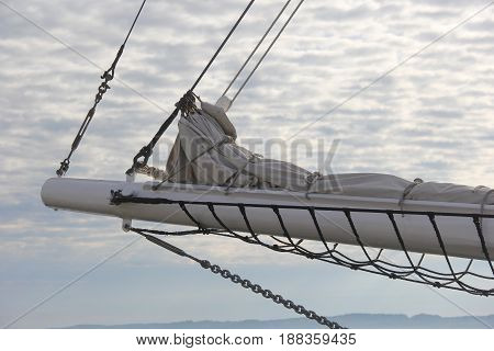 The bowsprit of a great lakes schooner