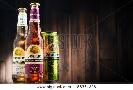 Bottles And Can Of Somersby Cider Drink