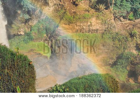 Bright Rainbow At The Elephant Waterfall Dalat, Vietnam