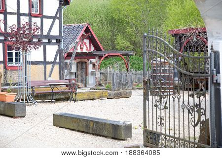 Typical old houses in the Eifel, Germany
