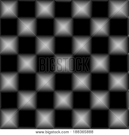 Black and white chessboard , abstract geometric background