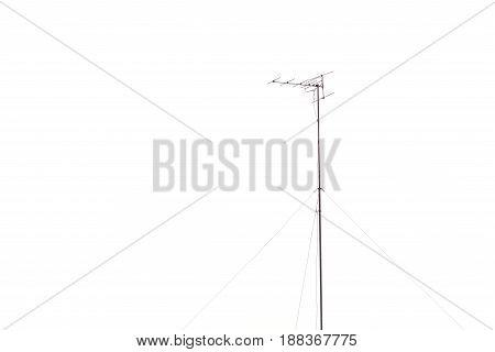 Analog Tv Antenna Isolated On White Background
