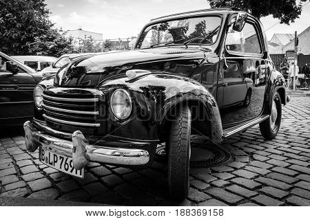 BERLIN GERMANY - MAY 17 2014: Micro car Fiat 500C