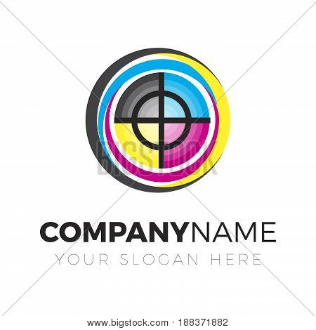 Print Logo. Logo template for your business
