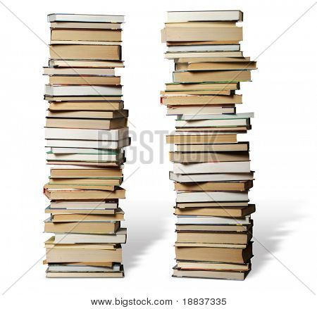 many books on each other with knowledge about anything