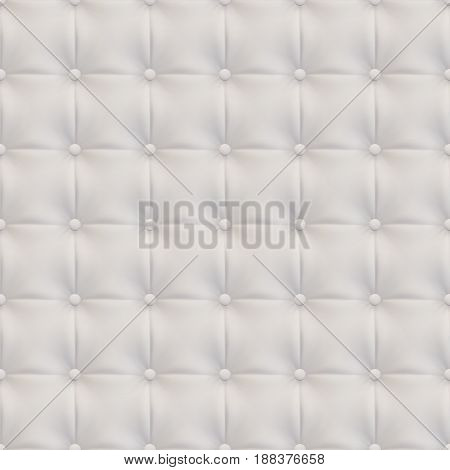 Upholstery Leather realistic texture White seamless vector abstract geometric background