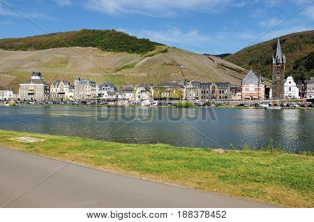 City View of Berkastel-Kues at the River Moselle