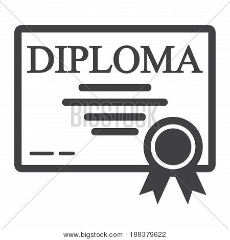 Diploma line icon, Education and certificate, graduation vector graphics, a linear pattern on a white background, eps 10.