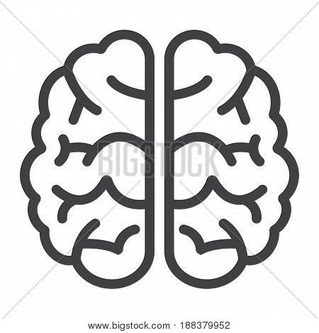 Brain line icon, brainstorm and idea, medical vector graphics, a linear pattern on a white background, eps 10.