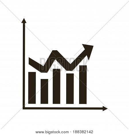 business graph and chart statistics financial image vector illustration