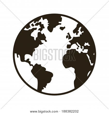global earth map world geography image vector illustration