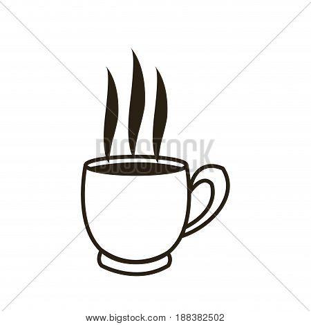 cartoon coffee cup beverage fresh icon vector illustration