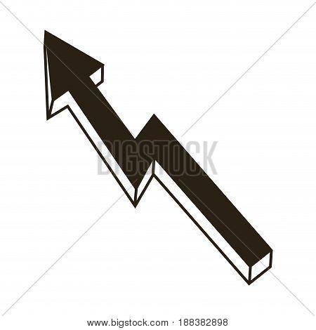 arrow business growth profit finance chart icon vector illustration