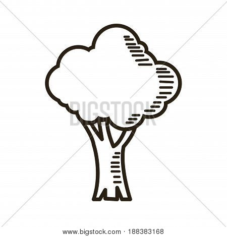 tree cartoon ecology environment natural outline vector illustration