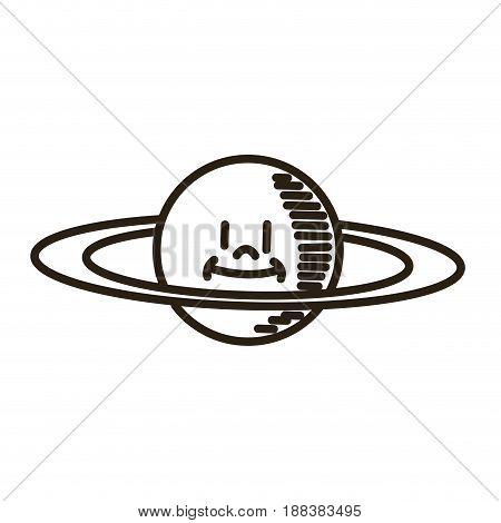 cartoon planet saturn space astronomy vector illustration
